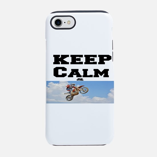 keep calm & ride iPhone 7 Tough Case