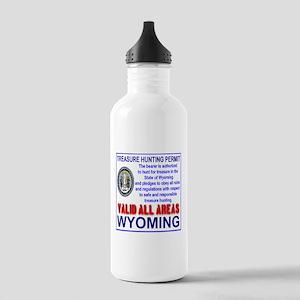 Treasure Hunting Permit Wyoming Stainless Water Bo