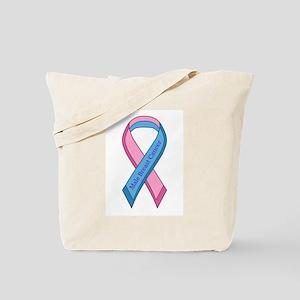Male Breast Cancer Awareness Ribbon Tote Bag