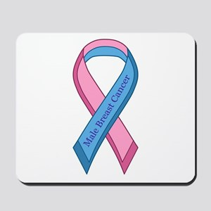 Male Breast Cancer Awareness Ribbon Mousepad