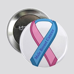 "Male Breast Cancer Awareness Ribbon 2.25"" Button"