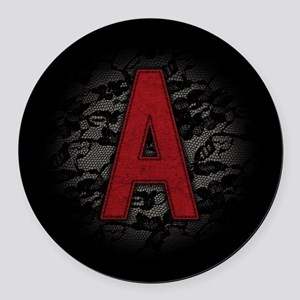 scarlet-a_square Round Car Magnet