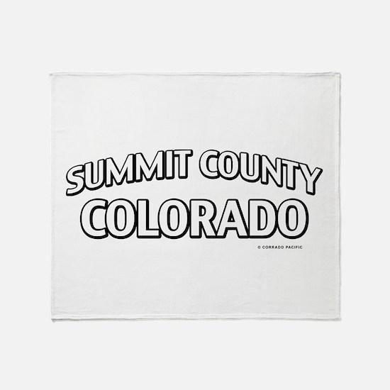 Summit County Colorado Throw Blanket
