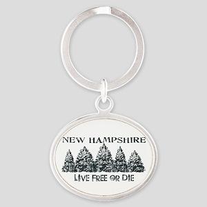 Live Free or Die Keychains
