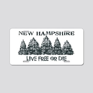 Live Free or Die Aluminum License Plate