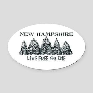 Live Free or Die Oval Car Magnet