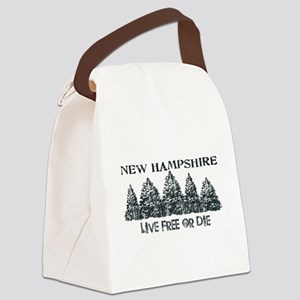 Live Free or Die Canvas Lunch Bag