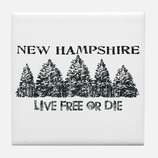 Live Free or Die Tile Coaster