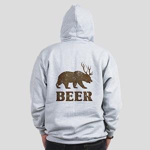 Bear+Deer=Beer Vintage Zip Hoodie