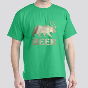 Bear+Deer=Beer Vintage Dark T-Shirt