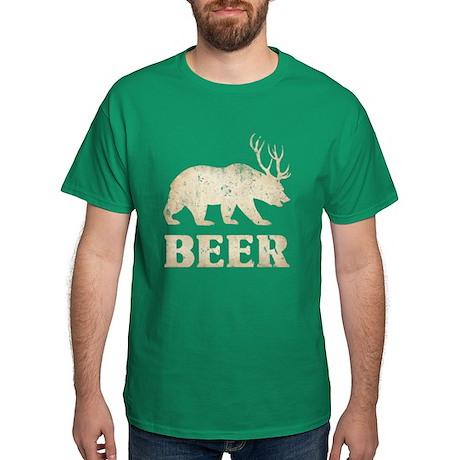 Bear+Deer=Beer Vintage Dark T-Shirt