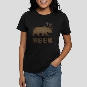 Bear+Deer=Beer Vintage Women's Dark T-Shirt