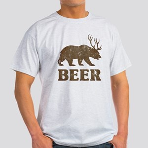 Bear+Deer=Beer Vintage Light T-Shirt