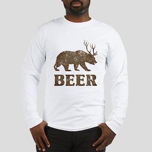 Bear+Deer=Beer Vintage Long Sleeve T-Shirt