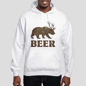 Bear+Deer=Beer Vintage Hooded Sweatshirt