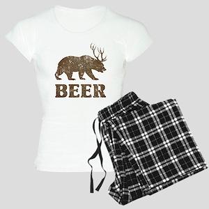 Bear+Deer=Beer Vintage Women's Light Pajamas
