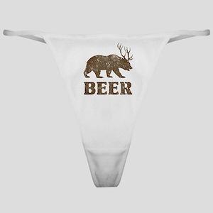 Bear+Deer=Beer Vintage Classic Thong