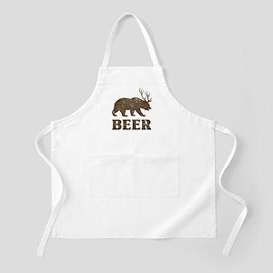 Bear+Deer=Beer Vintage Apron