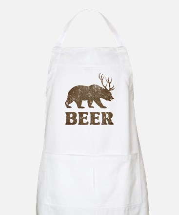 Bear+Deer=Beer Vintage Apron