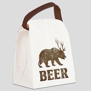 Bear+Deer=Beer Vintage Canvas Lunch Bag