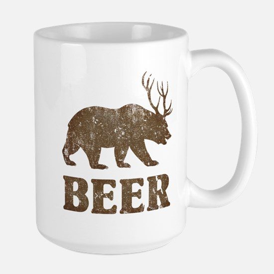 Bear+Deer=Beer Vintage Large Mug