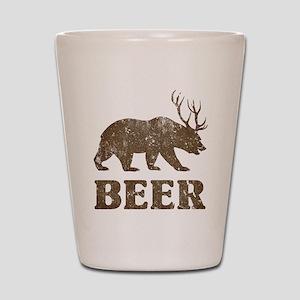 Bear+Deer=Beer Vintage Shot Glass
