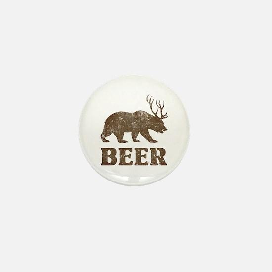 Bear+Deer=Beer Vintage Mini Button
