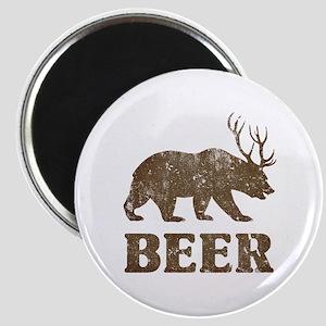 Bear+Deer=Beer Vintage Magnet