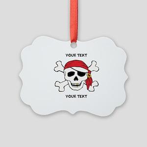PERSONALIZE Funny Pirate Picture Ornament
