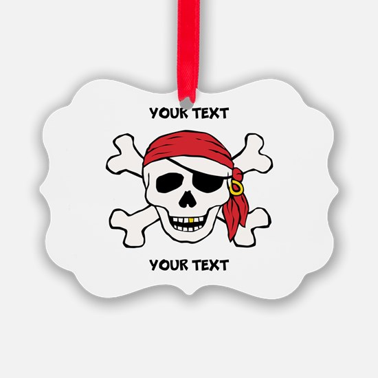 PERSONALIZE Funny Pirate Ornament
