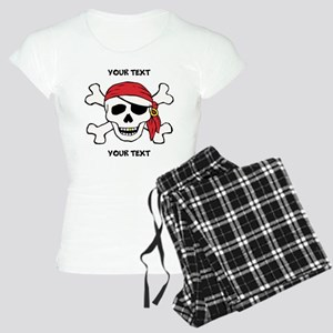 PERSONALIZE Funny Pirate Women's Light Pajamas