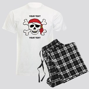 PERSONALIZE Funny Pirate Men's Light Pajamas