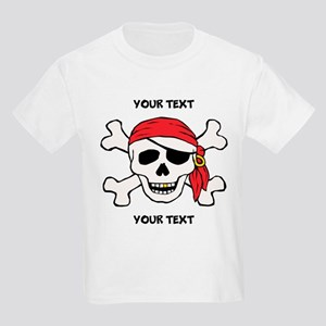 PERSONALIZE Funny Pirate Kids Light T-Shirt