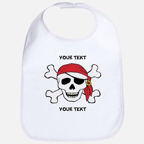 PERSONALIZE Funny Pirate Bib