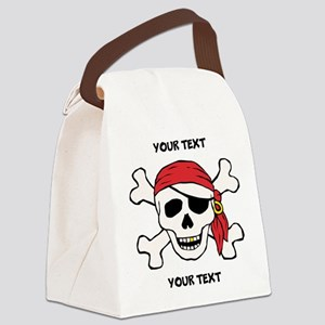 PERSONALIZE Funny Pirate Canvas Lunch Bag