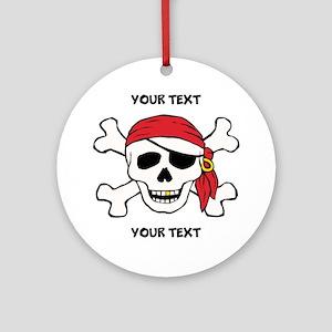 PERSONALIZE Funny Pirate Ornament (Round)