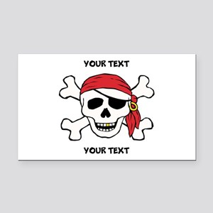 PERSONALIZE Funny Pirate Rectangle Car Magnet