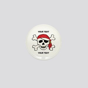 PERSONALIZE Funny Pirate Mini Button