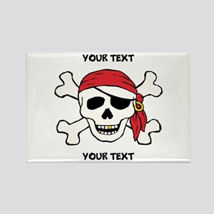 PERSONALIZE Funny Pirate Rectangle Magnet