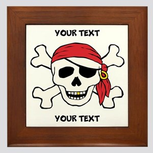 PERSONALIZE Funny Pirate Framed Tile