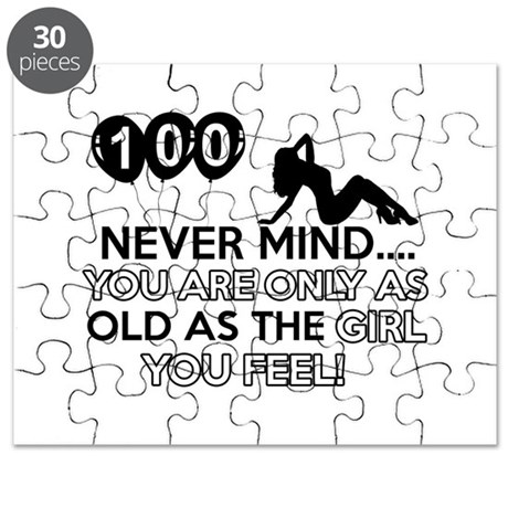 100th year old birthday designs Puzzle
