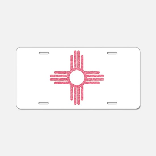New Mexico State Flag Aluminum License Plate