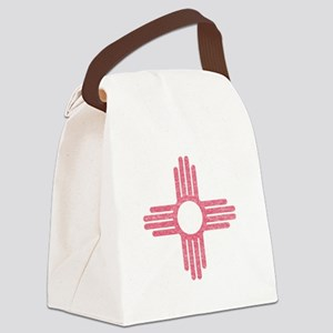 New Mexico State Flag Canvas Lunch Bag