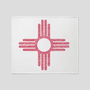 New Mexico State Flag Throw Blanket