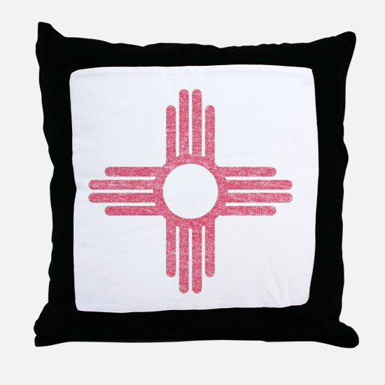 New Mexico State Flag Throw Pillow