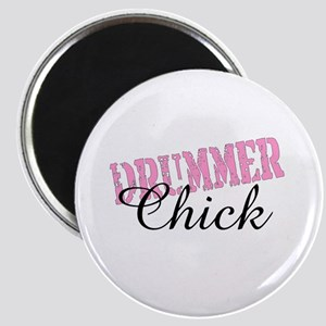 Pink Drummer Chick Girl Drums Magnet