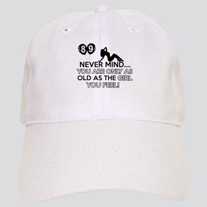 89th year old birthday designs Cap