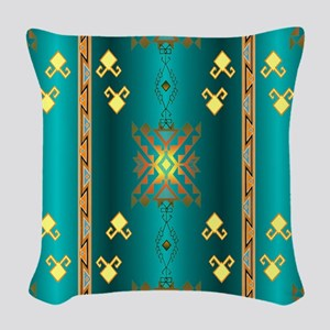 Sun In Winter Blanket Design Woven Throw Pillow