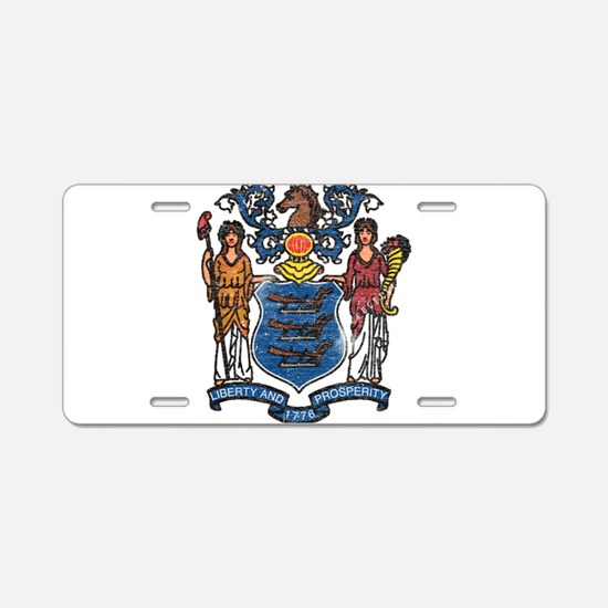 New Jersey State Flag Aluminum License Plate