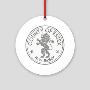 Vintage Essex County NJ Ornament (Round)